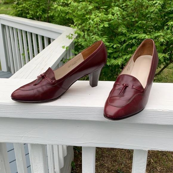 Johnson & Murphy classic vintage cognac heels 7AA